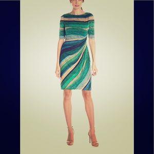 London Times 3/4 sleeve work dress - L